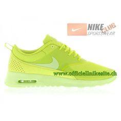 best loved eea48 92233 Nike Wmns Air Max Thea GS Chaussures de Running Pour Femme Vert 599409-304,