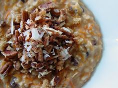 Carrot Cake Oatmeal  OMG!!!! Must try this!! :-)