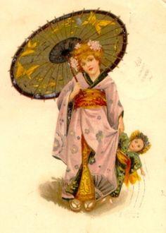 Japanese postcard circa 1920's