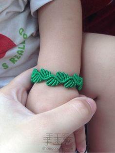 """""""绿叶围绕""""手链(原创) 第17步"""