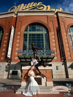Taking your wedding guests to a Brewers game at Miller Park can be a fun, albeit pricey, option. Find out what this couple spent on their vendors for their $60,000 wedding.
