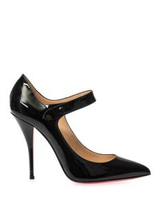 Neo Pensee 100mm patent-leather pumps | Christian Louboutin | ...