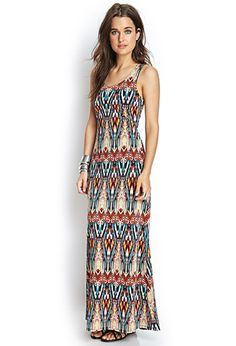 Abstract Cutout Maxi Dress | FOREVER21 - 2000068092