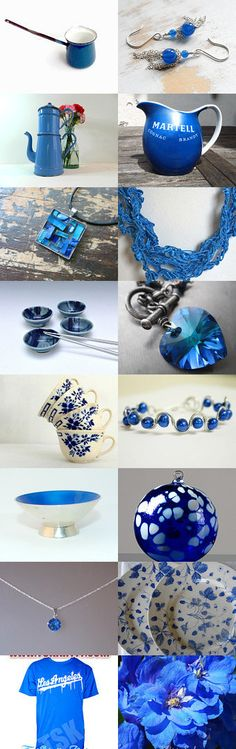 Bright August Blues by Carla on Etsy--Pinned with TreasuryPin.com