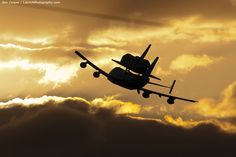The final flight of the space shuttle.