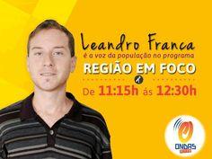 JORNAL O RESUMO: O comunicador e jornalista Leandro França agora ta...