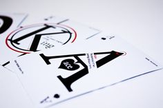 Graphos Playing Cards by Michelle Lam. #design #typography
