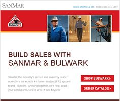New Bulwark Flame-Resistant Apparel Now at SanMar l SanMar, the industry's service and inventory leader, now offers the world's #1 flame-resistant (FR) apparel brand—Bulwark. Working together, we'll help boost your workwear business in 2015 and beyond.
