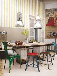 tapete aquarelle as tapete blume struktur weiß gelb grau 94089-3 ... - Designer Tapeten Raumbilder