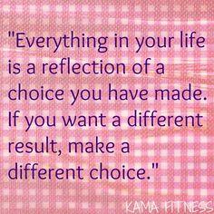{{Motivational Minute}} Make a Different Choice
