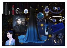 """""""Dipped In blue (ft Suho EXO)"""" by alexia98fanfan ❤ liked on Polyvore featuring Alice + Olivia, Rolex, Lazuli, Bling Jewelry, NYX and Giorgio Armani"""