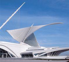 Milwaukee Museum of Art - Santiago Calatrava. @designerwallace