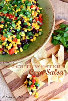 I love eating my rainbow colors so this Southwestern Corn Salsa: Delightful E Made is on my must make this year.