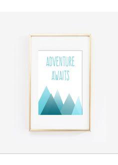 Adventure Awaits Design Printable wall art instant download, Print Wall Art,  Bedroom Decor, Nursery Art by LunaSavita on Etsy