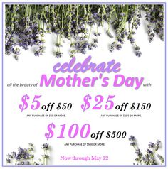 Luscious Mother's Day sale at our AVEDA shop, Serenity Spa Boutique. Now through May 12. Free validated parking while you shop. Open daily 9-9.