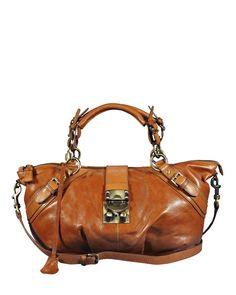 Product Name Silvio Tossi Buckle Detail Leather Shoulder Bag at Modnique.com