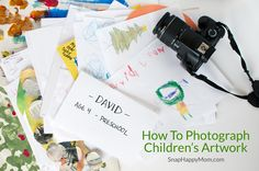 I'm not a big fan of paper clutter, but I want to preserve my children's artwork somehow. Taking pictures of artwork is space-efficient, portable, and flexible.