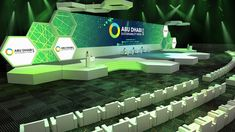 """Check out this project: """"ADSW 2019 opening ceremony stage design"""" www.b… – Decoration Event Tv Set Design, Stage Set Design, Plateau Tv, Corporate Event Design, Outdoor Stage, Backdrop Design, Church Design, Interactive Design, Event Decor"""