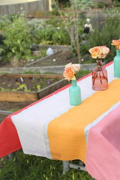 Painted tablecloth