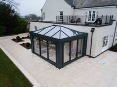 Orangery roofs come in all sorts of sizes and shapes. Find a price for an orangery roof here, ask one of our Installers about your orangery project. Orangery Roof, Kitchen Orangery, House Extension Design, Glass Extension, Garden Room Extensions, House Extensions, Home Room Design, House Design, Orangery Extension