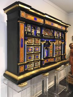 Rare and Exceptional Italian Ebony Cabinet 3 Antique Furniture, Cool Furniture, Shop Cabinets, Antique Cabinets, Liquor Cabinet, Sculptures, Objects, Storage, Antiques