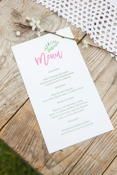 Knots & Kisses created the stationery to compliment the botanical theme with rustic twine and an elegant use of text and colour. Champagne Saucers, Spring Lambs, Cheese Scones, Vintage Crockery, Floating Flowers, Pea Soup, Canapes, Pistachio, Spring Wedding