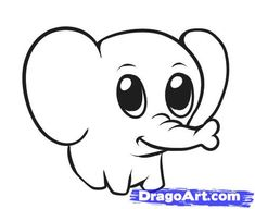 Step 6. How to Draw a Simple Elephant