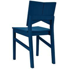 Cadeira de Jantar Carioquinha Azul - Orb
