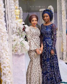 african nigerian wedding party dress, sequence organza lace gown style, glitter tulle lace for aso ebi, african women fashion styles