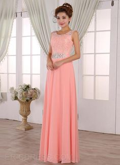 Ericdress Pretty A-Line Scoop Lace Long Bridesmaid Dress Bridesmaid Dresses 2014- ericdress.com 11276168