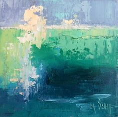 Still Life Artists International: Blue and Green Paintings, Daily Painting, Small Oil Painting