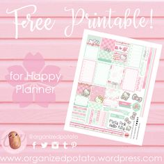 Did you guess the theme for this week's free printable from my Washi Wednesday pic two days ago?  I think I like doing this every Washi Wednesday… It's so much fun to tease the p…