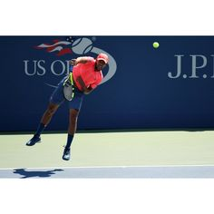 Jo-Wilfried Tsonga  serves up in Round of 16 to beat Jack Sock