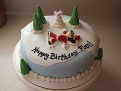 "Winter ""Mickey Mouse"" birthday cake."