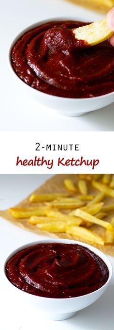 2-Minute Healthy Ketchup   simpleveganblog.com #vegan #glutenfree