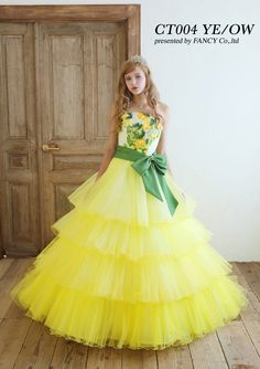 Casual Work Outfits, Girl Outfits, Pretty Dresses, Beautiful Dresses, Kids Party Wear Dresses, Kids Frocks, Vogue Magazine, Yellow Dress, Formal Dresses