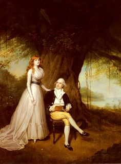Arthur William Devis, Portrait of Robert Grant and His Wife, Elizabeth. Her hair looks a lot like mine!!