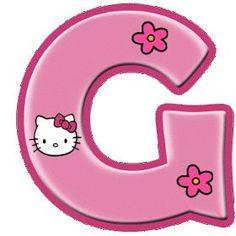 Hello Kitty Birthday, Happy Birthday, Birthday Party Themes, Birthday Invitations, Hello Kitty Rosa, Hello Kitty Imagenes, Classroom Rules Poster, Hello Kitty Themes, Cartoon Letters
