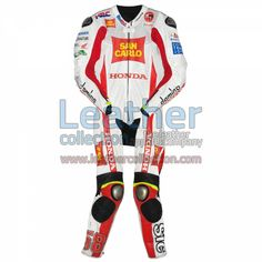Marco Simoncelli Honda 2011 Leathers for $629.30 - https://www.leathercollection.com/en-we/marco-simoncelli-honda-2011-leathers.html