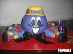 Wiggles - Henry the Octopus Cake Wiggles Birthday, Wiggles Party, 2 Birthday Cake, Baby Birthday, Toddler Birthday Themes, Boy Birthday Parties, Birthday Ideas, Wiggles Cake, The Wiggles