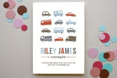 Beep Beep Children's Birthday Party Invitations by Susan Asbill at minted.com