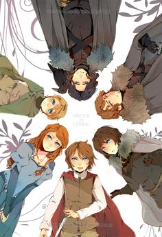 Game Of Thrones is listed (or ranked) 4 on the list 23 Of Your Favorite Smash-Hit TV Franchises, Anime Style Anime Style, Casa Stark, House Stark, Live Action, Arte Game Of Thrones, Got Anime, Game Of Thones, Anime Version, The North Remembers