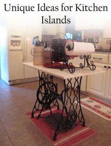 •❈• unique ideas for kitchen islands- super cute!