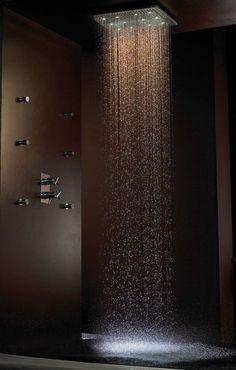 dream rain shower - I bet this feels WONDERFUL! I REALLY gotta win the Lotto so I can design my dream home!