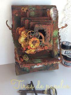 cámara alterada Diy, Painting, Mini Albums, Antique Photos, Beds, Objects, Bricolage, Painting Art, Handyman Projects