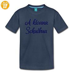 A Kloana Schulbua, Schulanfang, Spruch Kinder Premium T-Shirt von Spreadshirt®, 110/116 (4 Jahre), Navy - Shirts mit spruch (*Partner-Link)
