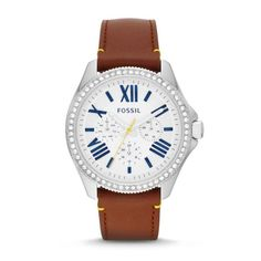 Montre pour femme : Cecile Multifunction Leather Watch  Brown
