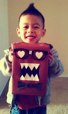 Domo Valentine's card box I made for my Son's Valentine party :)