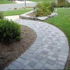 How I want to paver our front walkway...