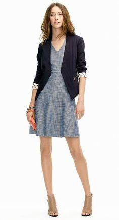I like pairing the blazer and the dress. I do like blazers and jackets. I instantly feel put-together.